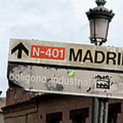 Madrid Street Sign Poster