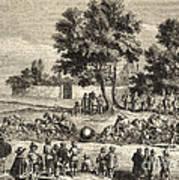 Magdeburg Hemispheres, 17th Century Poster