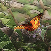 Magical Places For Butterflies Poster