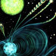 Magnetic White Dwarf Star Euvej0317-855 Poster