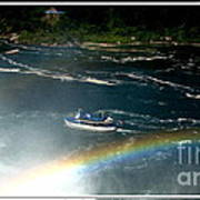 Maid Of The Mist And Rainbow At Niagara Falls Poster