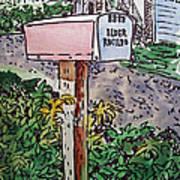 Mailbox Sketchbook Project Down My Street Poster by Irina Sztukowski