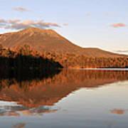 maine 25 Baxter State Park Mt. Khatahdin Reflection in Daicey Pond Poster