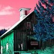 Maine Barn Poster by Marie Jamieson