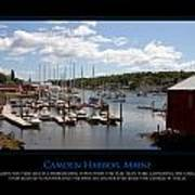 Maine Harbour Poster by Jim McDonald Photography