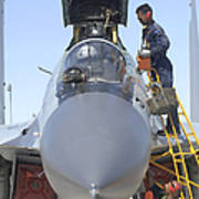 Maintainers Prepare A Sukhoi Su-30 Poster