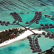 Maldives Aerial Poster by Jane Rix