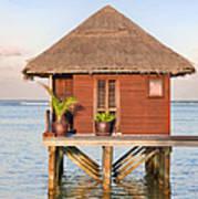 Maldives Villa Poster by Jane Rix