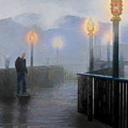Man In A Fog Poster by Suni Roveto