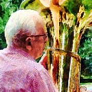 Man Playing Tuba Poster