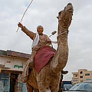 Man With His Camel Poster