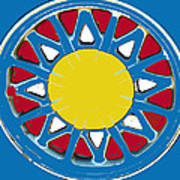 Mandala In Primary Colors Poster