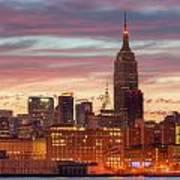 Manhattan Buildings And Pre-sunrise Sky Poster