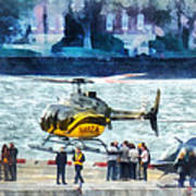 Manhattan Heliport Poster