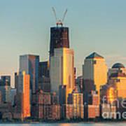 Manhattan Sunset Reflections Poster