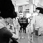 Mannequins At Peggy Sues 50's Diner Poster