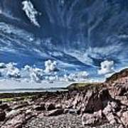 Manorbier Rocks Big Sky Poster