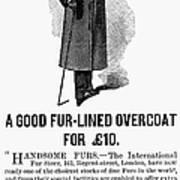 Mans Overcoat, 1888 Poster