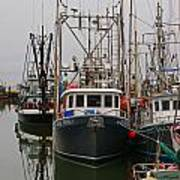 Many Fish Boats Poster