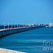 Marathon And The 7mile Bridge In The Florida Keys Poster