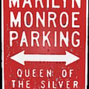 Marilyn Monroe Parking Poster