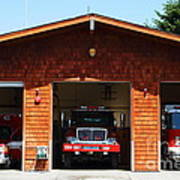 Marin County Fire Department . Point Reyes California . 7d15920 Poster by Wingsdomain Art and Photography
