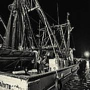 Marina Shipyard Texas Gulf Coast Poster