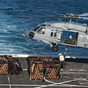 Marines Attach Cargo To An Mh-60s Sea Poster