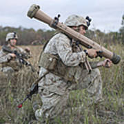 Marines Conduct A Simulated Attack Poster by Stocktrek Images