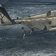Marines Conduct Insertion Exercises Poster