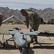 Marines Move An Rq-7 Shadow Unmanned Poster