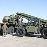 Marines Pick Up Palletized Logistics Poster