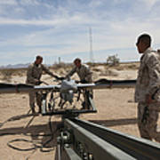Marines Place An Rq-7 Shadow Unmanned Poster