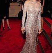 Marion Cotillard Wearing A Silver Poster