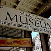 Mark Twian Museum Virginina City Nv Poster by LeeAnn McLaneGoetz McLaneGoetzStudioLLCcom