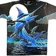 Marlin Moon Mens Shirt Poster