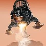 Mars Lander, Artwork Poster