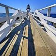 Marshal Point Lighthouse Walkway Poster