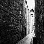 Martins Lane Narrow Entrance To Tenement Buildings In Old Aberdeen Scotland Uk Poster