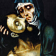 Mary And Jesus Painting At Peace Center Poster