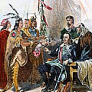 Massasoit & Carver, 1620 Poster