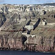 Mavromatis Pumice Quarry With Pier Poster