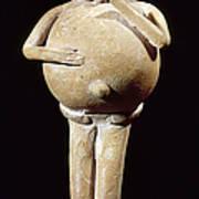 Mayan Rattle, 200-900 A.d Poster