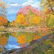 Mayslake At Fall Poster by Judith Barath