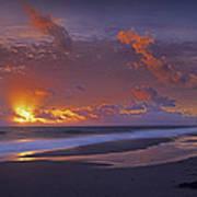 Mcarthur Beach At Sunrise Florida Poster