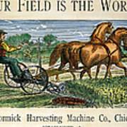 Mccormick Reaper, C1875 Poster