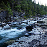 Mcdonald River Glacier National Park - 3 Poster