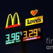 Mcdonalds Loves Gas Poster