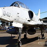 Mcdonnell Douglas Ta-4j Skyhawk Aircraft Fighter Plane . 7d11303 Poster by Wingsdomain Art and Photography