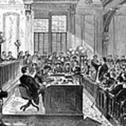 Mcfarland Trial, 1870 Poster